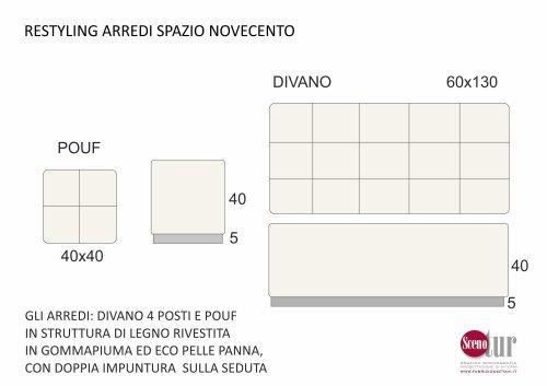 Spazio Novecento - Divani e puff - Progetto
