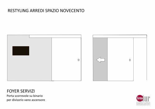 Spazio Novecento - Foyer servizi - Progetto
