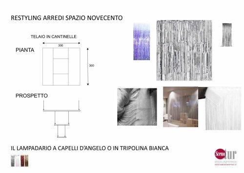 Spazio Novecento - Lampadario a capelli d'angelo - Progetto
